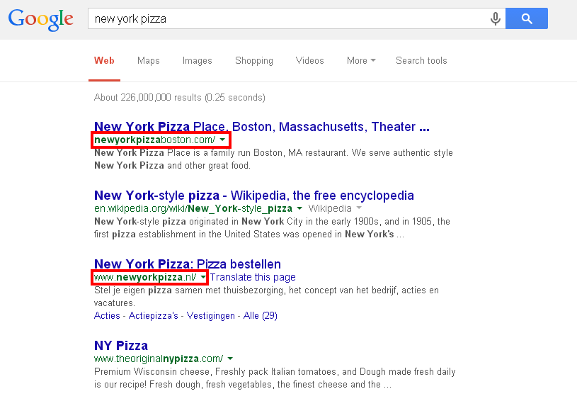 new york pizza search