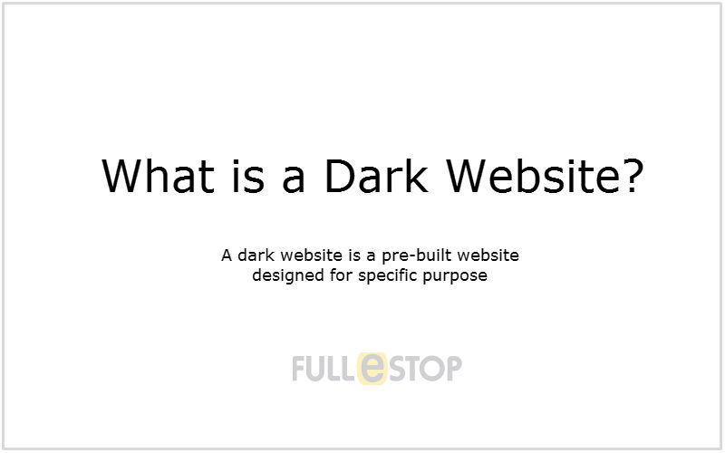 Dark Websites