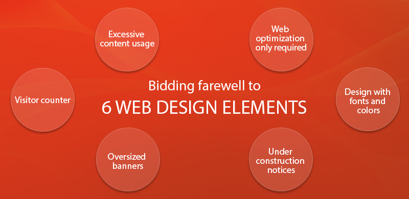 Bidding farewell to 6 web design elements