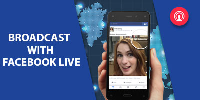 Broadcast with Facebook live