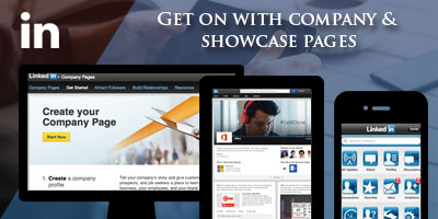 Get on with company and showcase pages