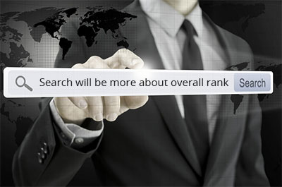 Search will be more about overall rank