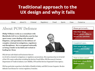 Traditional approach to the UX design and why it fails