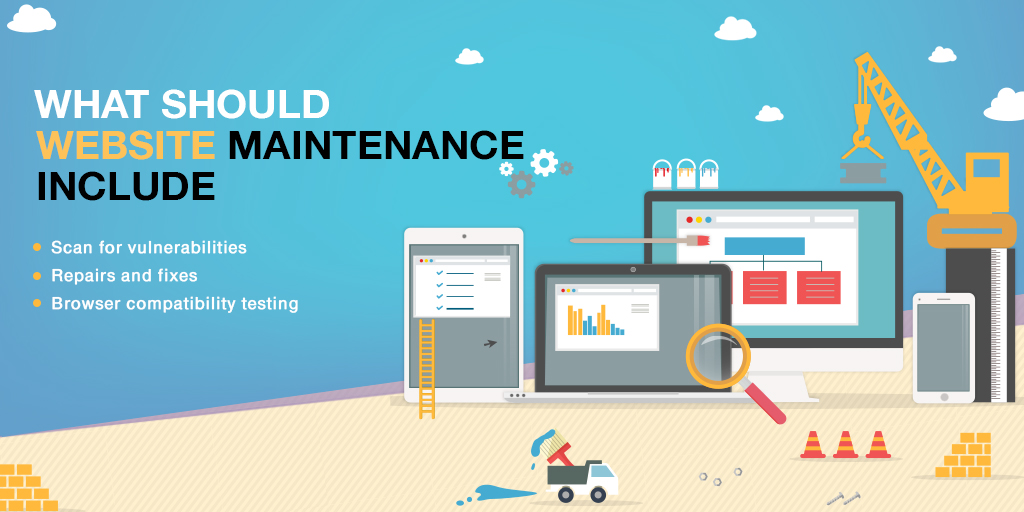 0ebdbb34 List of website maintenance details that one must keep a check on.